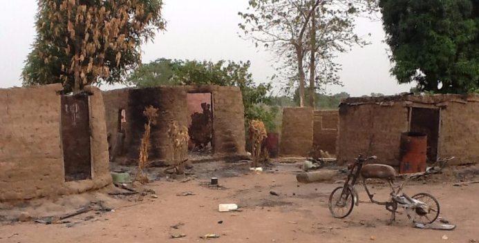 The-buildings-burnt-down-by-suspected-Fulani-herdsmen