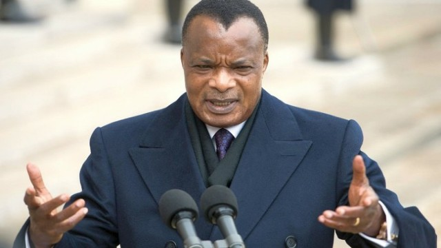 Congo's President Denis Sassou Nguesso