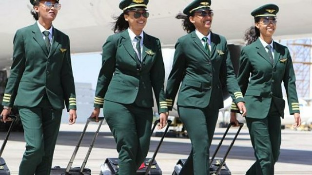 Ethiopian Airlines female crew