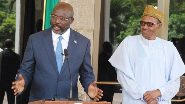 George Weah with Muhammadu Buhari