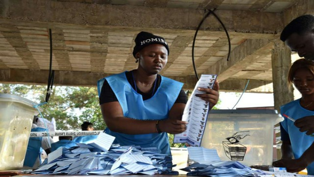 Sierra Leone election workers