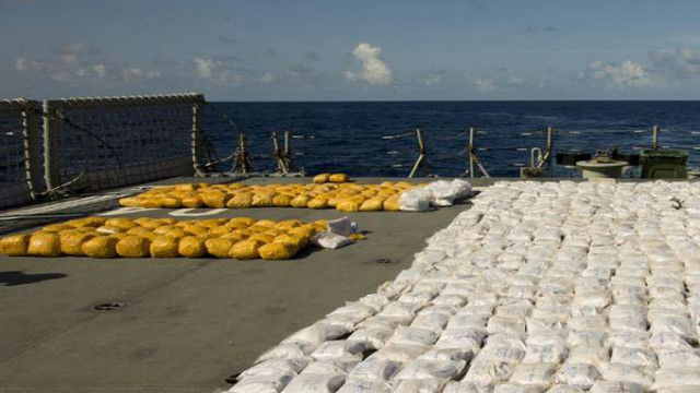 Drugs seized from a ship