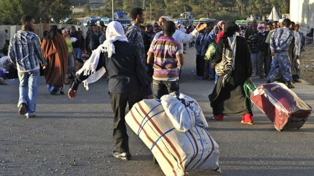 Ethiopian immigrants returning from Saudi Arabia