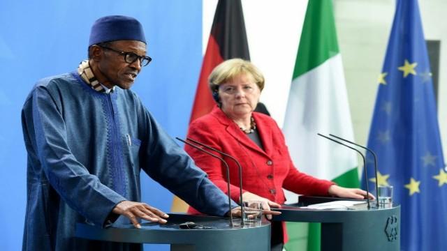 Buhari And Angela Merkel