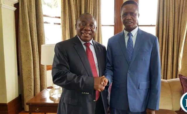 Lungu with Cyril Ramaposa