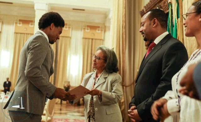 Lilesa receives prize from Ethiopia's president