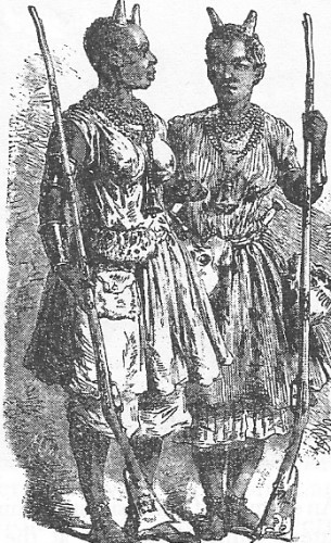 A depiction African female warriors