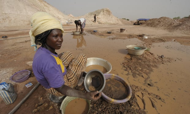 Gold miner woman
