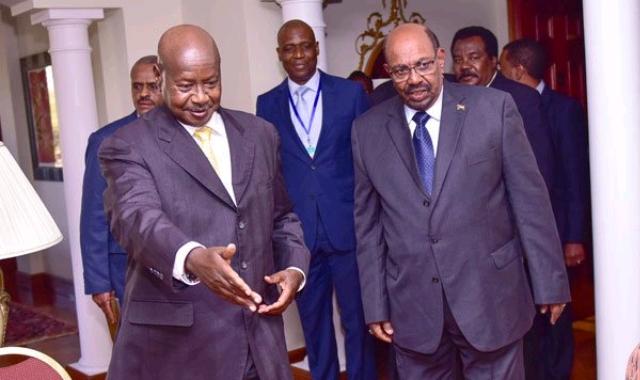 Museveni and Omar al-Bashir