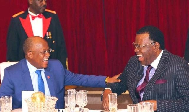 John Pombe Magufuli and Hage Geingob
