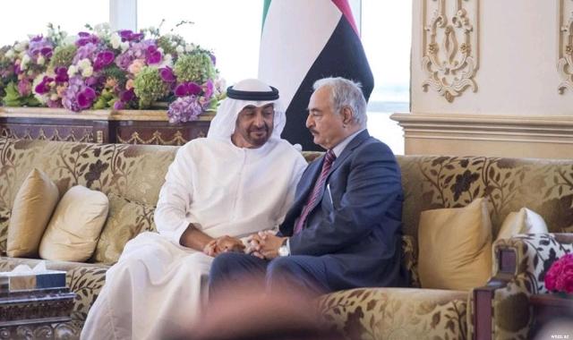 Sheikh Mohamed Bin Zayed and Khalifa Haftar
