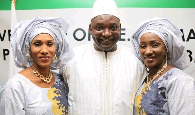 Adama Barrow and his wives