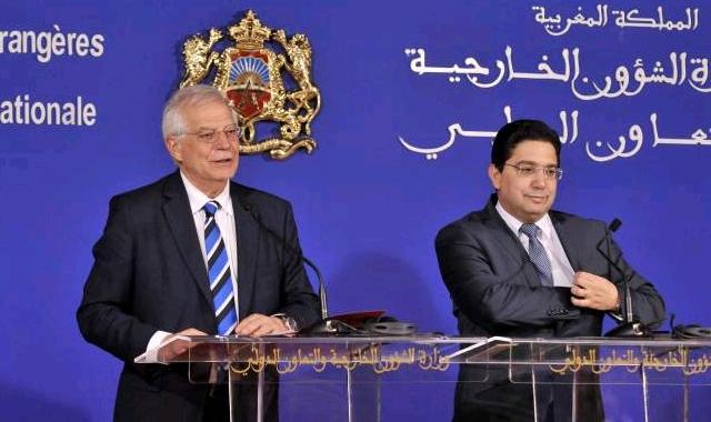 Nasser Bourita and Josepp Borell