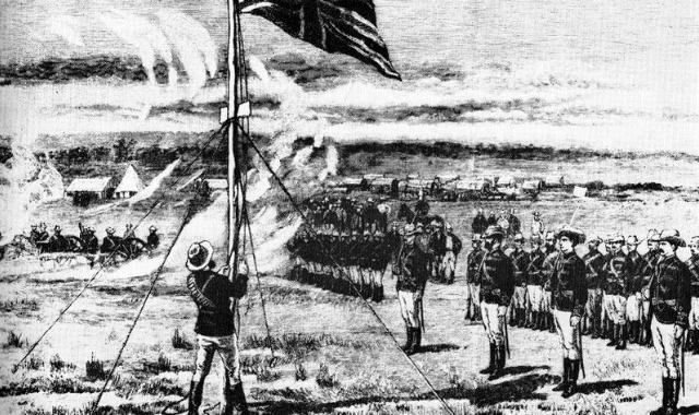 Union Jack flag in Fort Salisbury
