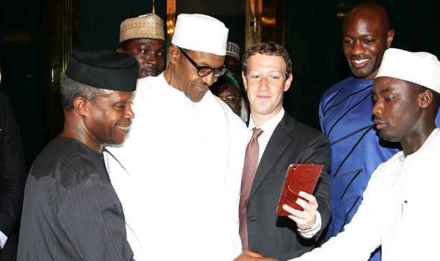 Buhari and CEO Mark Zuckerberg