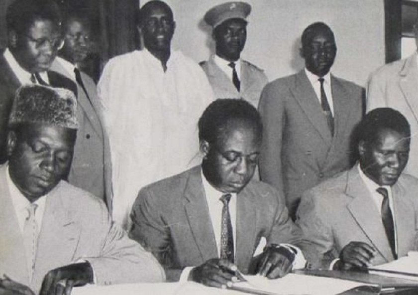 Modibo Keita, Kwame Nkrumah and Sekou Toure