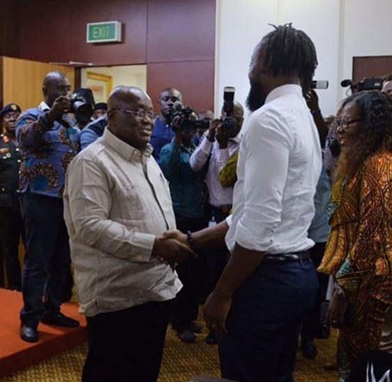 Kofi Kingston and Nana Akufo Addo