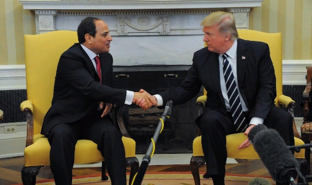 Abdel Fattah el-Sisi and Donald Trump