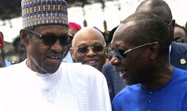 Muhammadu Buhari and Patrice Talon