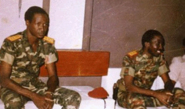 Thomas Sankara with Blaise Compaore