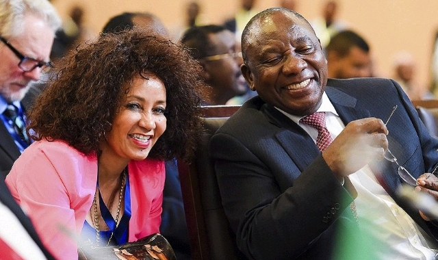 Cyril Ramaphosa and Lindiwe Sisulu