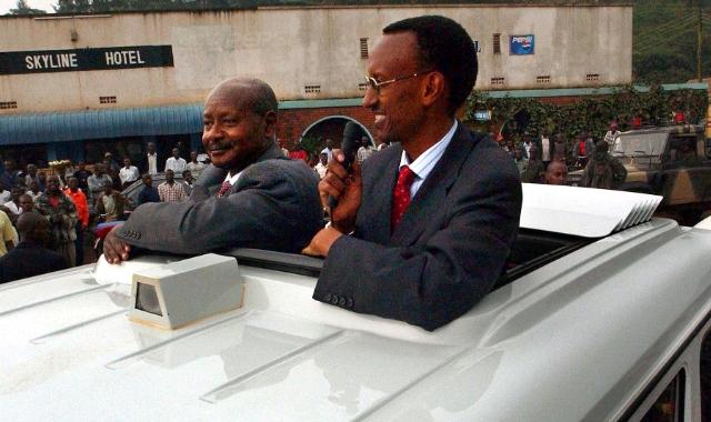Yoweri Museveni  and Paul Kagame