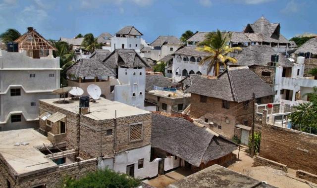 Lamu town in Kenya.