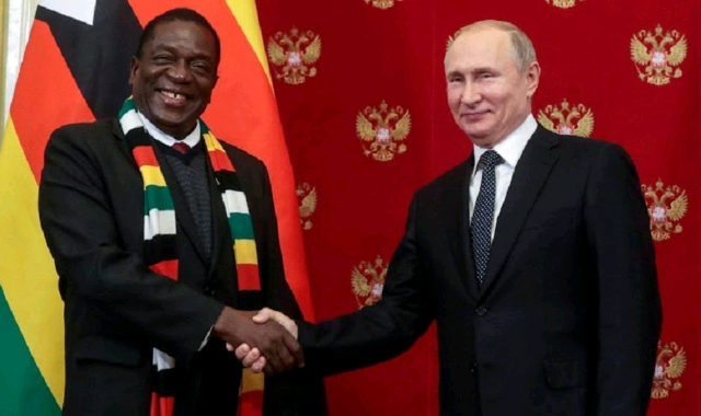 Vladimir Putin and Emmerson Mnangagwa