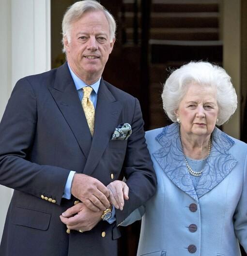 Mark Thatcher and Margaret Thatcher.