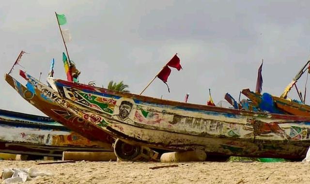 Fishing boats in Gunjur