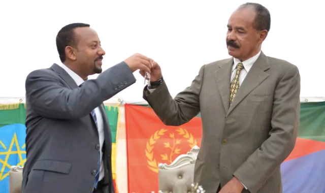 Abiy Ahmed and Isaias Afwerki