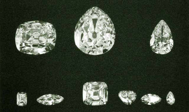 The 9 diamond pieces from the star of Africa