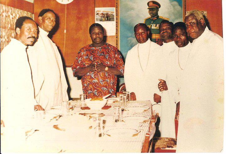 A picture of OBJ and Pa Oshoffa in the 70'