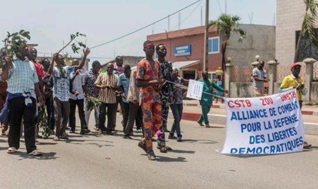 Benin protester
