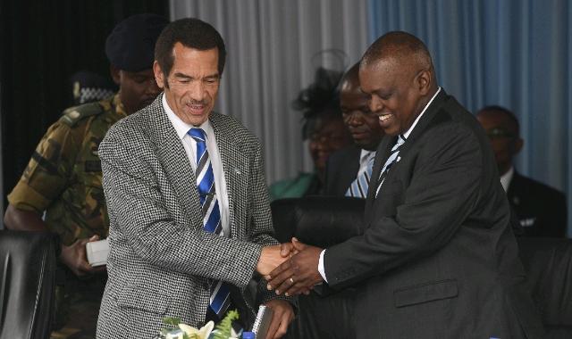 Ian Khama and  Mokgweetsi Masisi