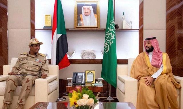 Mohamed Hamdan Dagalo and Mohammed bin Salman