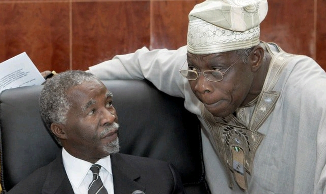 Thabo Mbeki and Olusegun Obasanjo