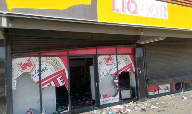 Shop looted