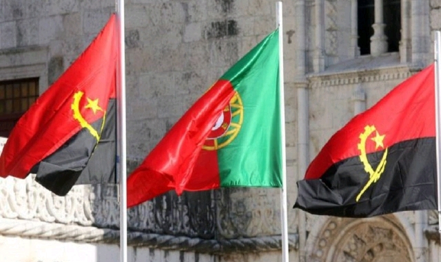 Angola and Portugal flag