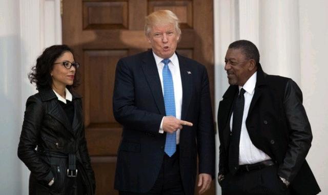 Robert L. Johnson and Trump
