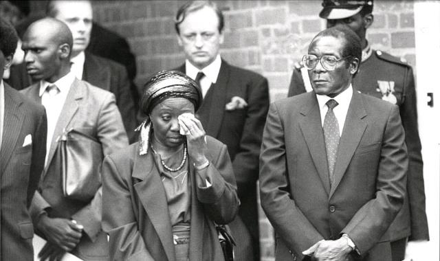 Robert Mugabe with Sally Mugabe