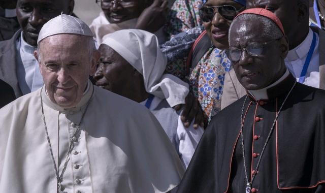 Pope Francis with Cardinal Robert Sarah