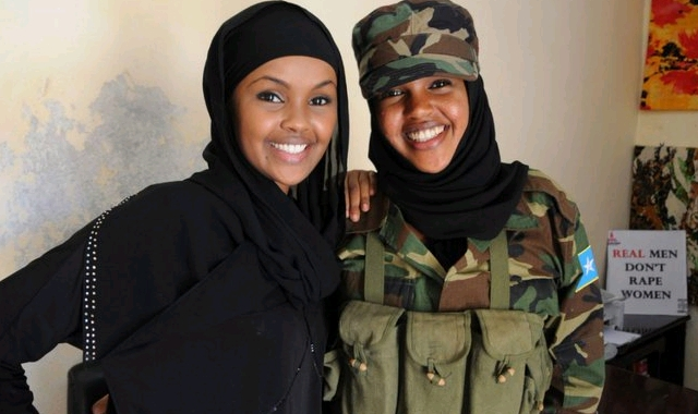 Ilwad Elman(L) and Iman (R).