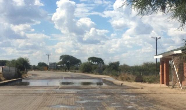 Botswana and Zambia border