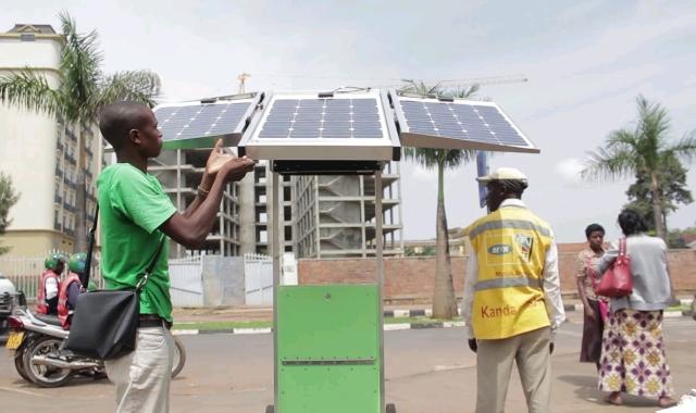 Solar kiosk