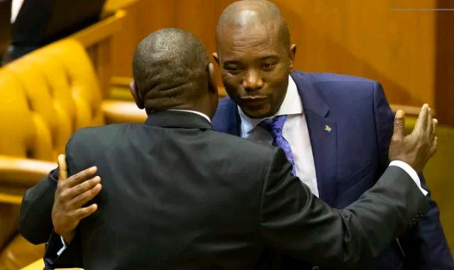 Cyril Ramaphosa and Mmusi Maimane
